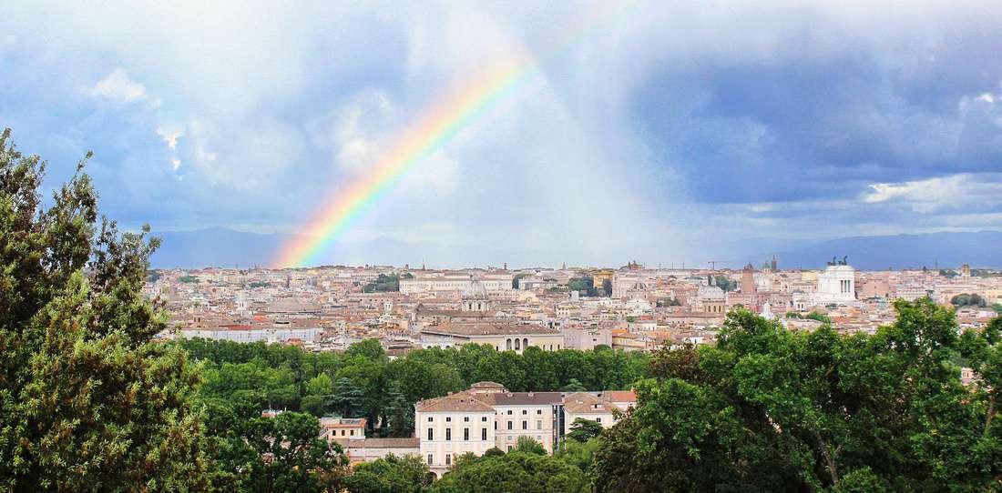Rom Wetter Regenbogen